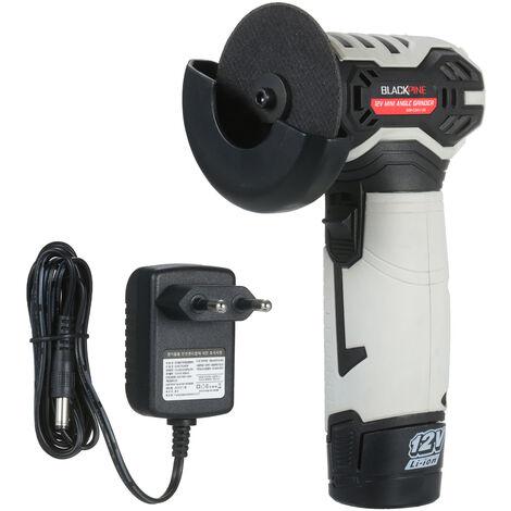 Mini meuleuse d'angle de poche a batterie au lithium 12 V, machine de decoupe electrique, petite machine de meulage d'entretien, noir gris SOM-CD01-120, norme europeenne