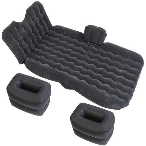 Lit gonflable de voiture Matelas de voiture Flocage de PVC Lit gonflable de voiture Garde de tete noir