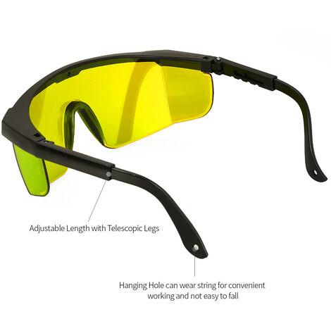 Lunettes laser bricolage miroir sculpte lunettes de protection industrielle avec boite avec tissu a lunettes