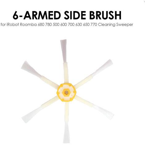 Robot aspirateur pieces brosse laterale remplacement a 6 bras pour iRobot Roomba 500 600 700 serie balayeuse de nettoyage,modele: Multicolore R303