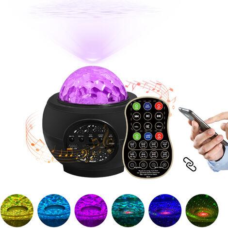 Star Projector Night Light 32 Effet de couleur avec BT Music Player Commande vocale Telecommande Galaxy Starry Projector Decoration de cadeau de Noel pour la fete de la chambre a coucher,modele:Type de chargement USB noir
