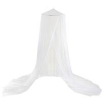 Moustiquaire simple porte simple en polyester 60 * 250 * 1200cm taille universelle suspendue moustiquaire dome blanc