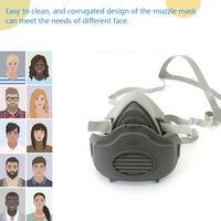 3M 3200 masque de protection en trois pieces masque anti-poussiere demi-masque + 3701 filtre coton * 1 + 3700 filtre coton couverture * 1