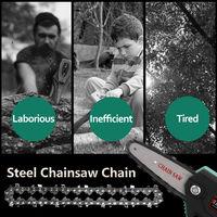 Mini chaine en acier de 4 pouces accessoires de scie a chaine electrique remplacement de chaine de scie a chaine electrique adaptepour