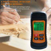 ZN-AZ-SFJ-002 thermometre d'humidite du bois eteint automatiquement l'ecran de retroeclairage LCD noir expedition sans batterie