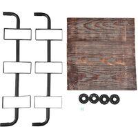etagere murale en fer forgede style industriel retro cloison en bois massif etagere creative de salle de bain 204WP