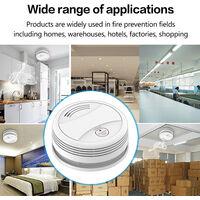 Detecteur de fumee intelligent Tuya WiFi Prise en charge du detecteur de fumee WiFi de telecommande d'application mobile