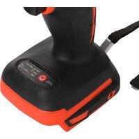 Cle electrique Cle pour batterie au lithium rechargeable Cle a chocs pour batterie au lithium sans balais Orange Livraison sans batterie sans prise