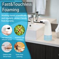 Distributeur de savon a capteur automatique de 250 ml (livre sans batterie)