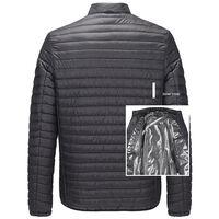 Vetements rembourres en coton chauffants electriques intelligents USB, expedies sans batterie sans prise, code XL noir
