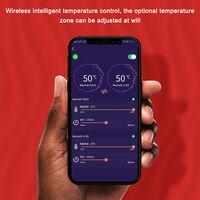 L'ensemble de sous-vetements chauffants et thermiques peut etre controle par l'application Bluetooth.Expedie sans batterie externe, code modele M masculin