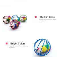 Rat de cage de couleur aleatoire FZ-M1002 avec cloche, balle de capture de chat de jouet de chat