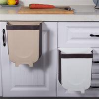 Poubelle suspendue, poubelle de cuisine portable, poubelle suspendue dans la voiture, (blanc)