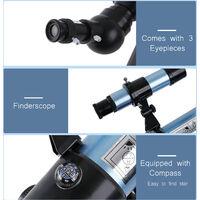 Telescope astronomique 90X HD monoculaire bleu modele F36050G