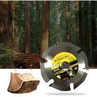 Lame de coupe universelle pour le travail du bois a six dents en carbure 125 * 22mm Lame de scie circulaire generale