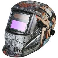 Masque de soudage aassombrissement automatique solaire, casque de soudage al'arc al'argon acontrole de lumiere monte sur la tete, masque de soudage, blanc M69