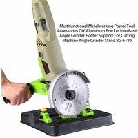 Outil electrique multifonctionnel de traitement des metaux coupe bricolage support en aluminium base de fer support de meuleuse d'angle BG-6180
