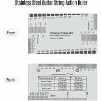 Regle de hauteur de corde en acier inoxydable pour guitare Jauge de reglage de la jauge multifonctionnelle