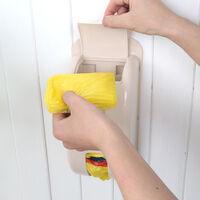 Boite de rangement murale pour sac poubelle Rangement pour couvre-chaussures beige