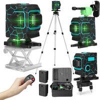 Jeu de niveau laser 3D a 12 lignes 220V, deux batteries et une charge