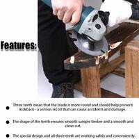 Lame de scie circulaire Meuleuse multifonctionnelle Lame de scie Lame de scie en carbure Lame de coupe en bois Accessoires pour outils electriques 125mm 3 dents