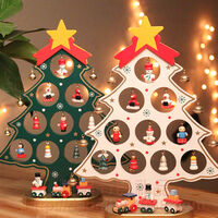 27cm en bois d'arbre de Noel ornements d'arbre de Noel en bois, rouge