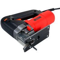 Scie sauteuse electrique multifonctionnelle, scie sauteuse domestique, scie a tirer, petite machine de decoupe de scie electrique domestique, paquet ordinaire rouge un, norme europeenne
