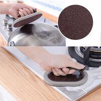 Emery eponge lingette brosse de nettoyage de decontamination multifonctionnelle de cuisine, brosse de baignoire puissante avec poignee, brosse a carreaux de salle de bain, noir