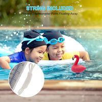 KKmoon (neutre) K-1020E thermometre a eau de piscine thermometre a eau flottant flamant mignon adapte aux piscines interieures et exterieures