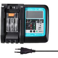 DC18RC remplace l'affichage de l'alimentation et du courant du chargeur Makita par une interface USB, sans cable USB, avec ecran, tension large, norme europeenne