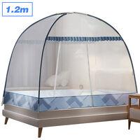 Aucune installation de couverture de moustiquaire Moustiquaire pliable domestique La couleur de la moustiquaire de yourte est expediee au hasard, 1,2 m