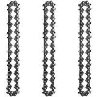 Mini chaine de remplacement de chaine en acier au manganese de 4 pouces pour scie a chaine electrique accessoires de scie a chaine electrique, paquet de 3