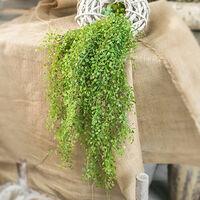 Fleur artificielle en pot plante artificielle feuille d'argent tenture murale decoration de la maison plante verte en pot fleur artificielle vert