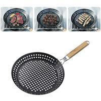 Plaque de barbecue ronde pliante exterieure Camping Plaque de barbecue multifonctionnelle a steak grille