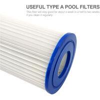 Element filtrant special bleu TYPE A pour piscine Filtre Intex A