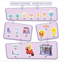 La table de barbecue de machine de burger de simulation pour enfants coupe les jouets heureux de maison de jeu, maison de dessert