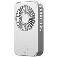 Mini ventilateur de poche, ventilateur de bureau portable de dessin anime de charge usb, blanc