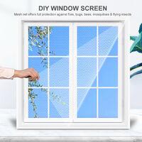 Moustiquaire auto-adhesive DIY, 1.5*2m blanc