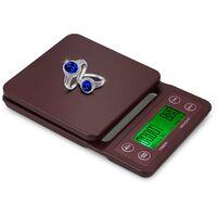 Balance electronique de cuisine multifonctionnelle, balance a cafe a main, livree sans batterie, vin rouge 3kg/0.1g