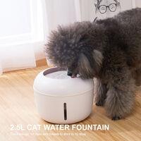 Nouveau distributeur d'eau pour chat petite fontaine distributeur d'eau electrique creatif USB, blanc