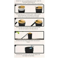 Pieges a rats Flip Slide Bucket Piege a souris Walk The Plank Piege automatique pour injection d'eau de 5 gallons Repulsif efficace contre les rats dans un hangar de garage interieur/exterieur,modele:Jaune