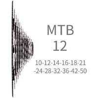 VTT 12 vitesses 10-50T Cassette Pignon VTT Velo 12s Cassette Roue Libre pour MS Hub, modele: Noir Argent