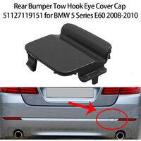 Capuchon de couvercle d'oeil de crochet de remorquage de pare-chocs arriere 51127178183 pour BMW serie 5 E60 2008-2010, modele: noir 92