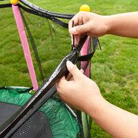 Arroseur de trampoline Arroseur de trampoline Outil de refroidissement de jardin et de jardin Connecteur vert 15 m + sangle 20 cm (25 pieces) + sangle 30 cm (20 pieces)