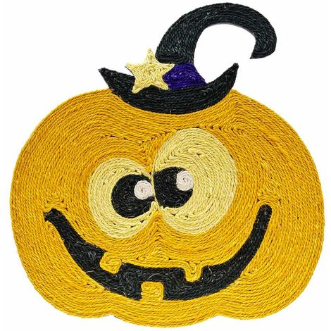 Scratching mat for cats in the shape of a pumpkin for Halloween