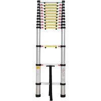 Échelle Pliable, Echelle Telescopique, 3,8 mètre(s), Écart supplémentaire, Sac de transport OFFERT, EN 131, Charge maximale: 150 kg