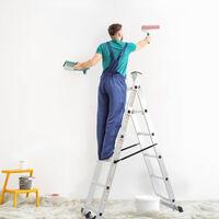 Échelle Multi-Usage, Echafaudage, 168 x 160 x 45 cm, EN 131, Charge maximale: 150 kg