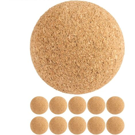 TUNIRO® Balles de football en liège pour Baby-Foot x10