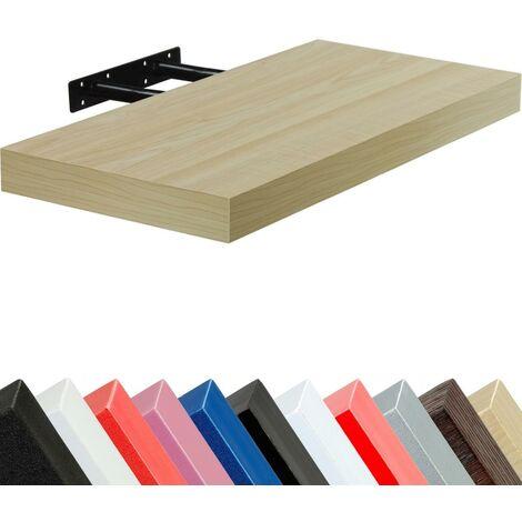STILISTA® Étagère murale \Volato\, Longueur 110cm, couleur au choix - Couleur : Brun