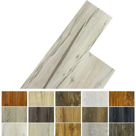 STILISTA® Lame de sol en Vinyle, pack 5,07m², chêne classique blanc